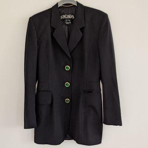 Escada Emerald Button Blazer Suit Jacket Sz 34